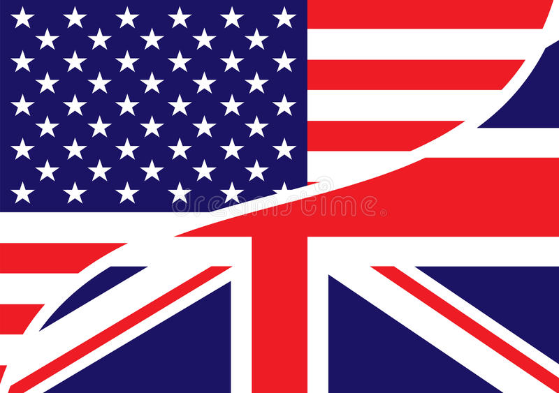 Download Usa british flag stock vector. Image of patriotic, combined - 15609342