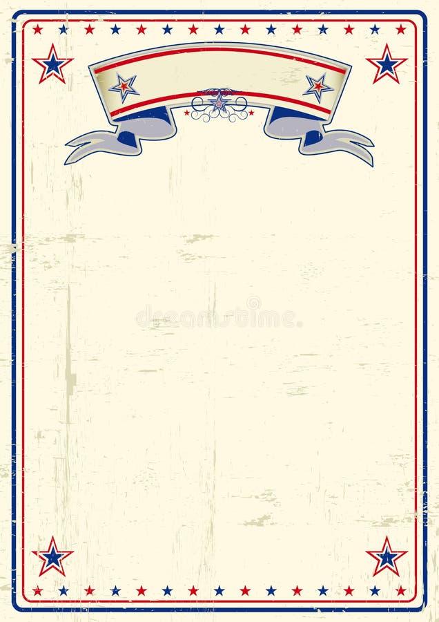 USA brudny plakat royalty ilustracja