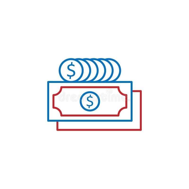 USA, business, money icon. Element of USA culture icon. Thin line icon for website design and development, app development. Premium icon on white background vector illustration
