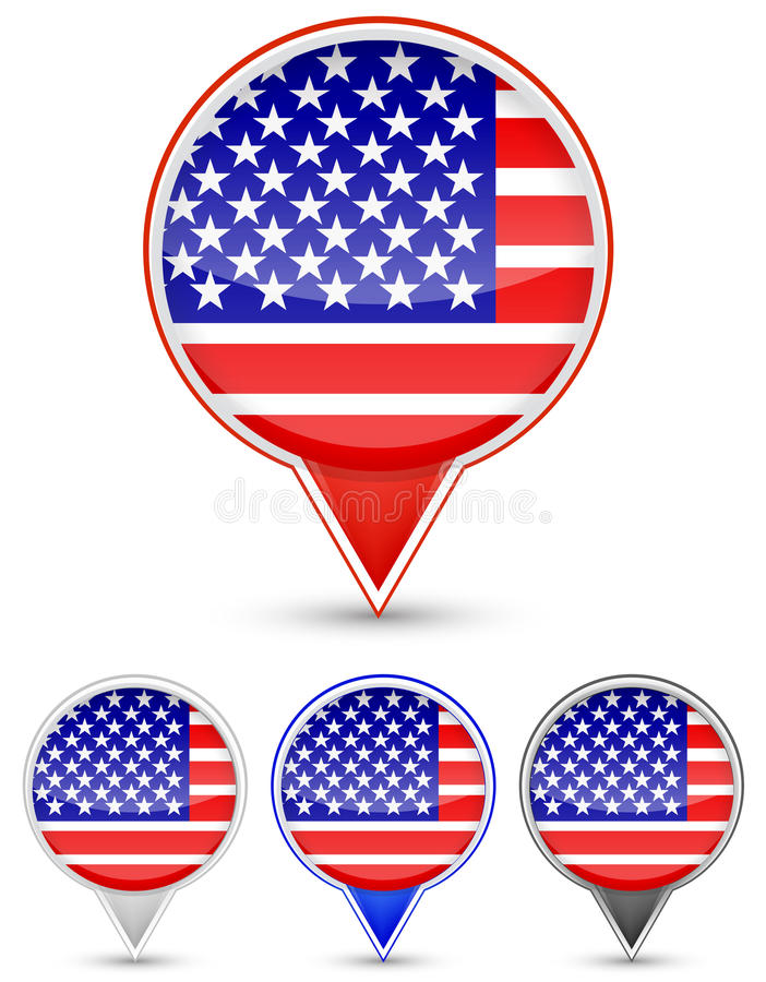 Download Usa Buttons Stock Photography - Image: 20207982