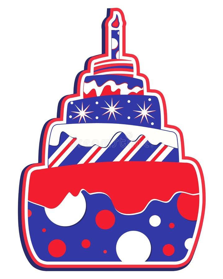 USA cake i lager stock illustrationer