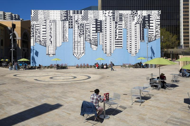 USA - California - San Diego - Horton plaza park royalty free stock images