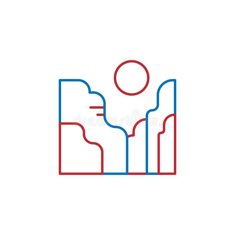 USA, canyon icon. Element of USA culture icon. Thin line icon for website design and development, app development. Premium icon. On white background vector illustration