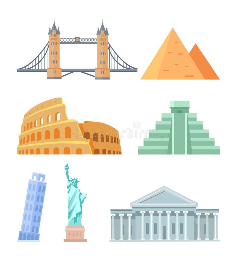 USA Capitol Buduje Colosseum wektoru ilustrację ilustracji
