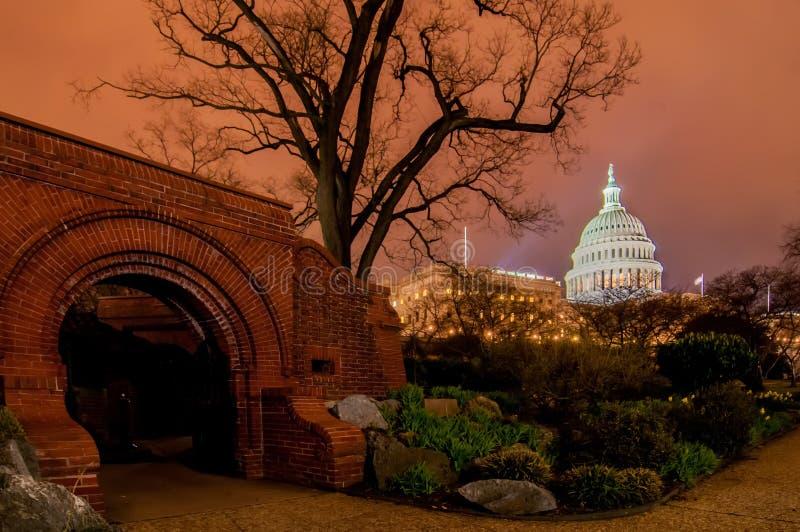 USA Capitol budynek w wiośnie zdjęcie stock