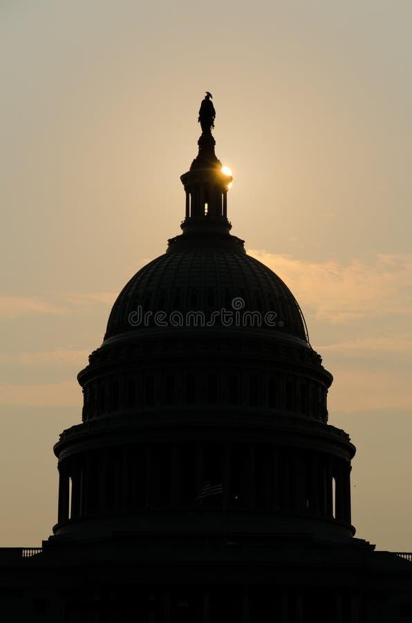 USA Capitol kopuły sylwetka, Waszyngton DC zdjęcia royalty free