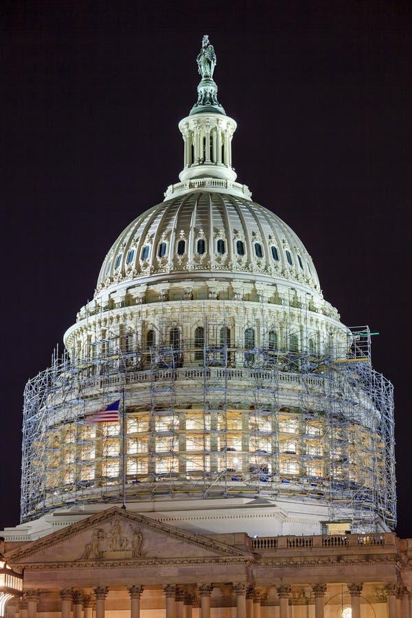 USA Capitol północnej strony kopuły budowy noc Gra główna rolę Washnington DC obrazy stock