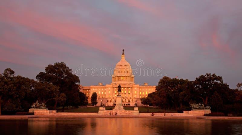 USA Capitol przy zmierzchem fotografia royalty free