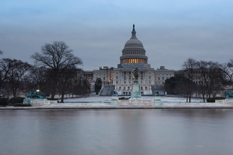 USA Capitol Zima Ranek Waszyngton DC obrazy stock