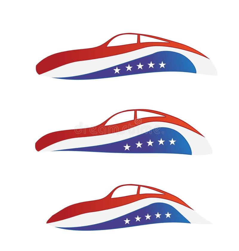 USA Car Swooshes Logo Royalty Free Stock Image