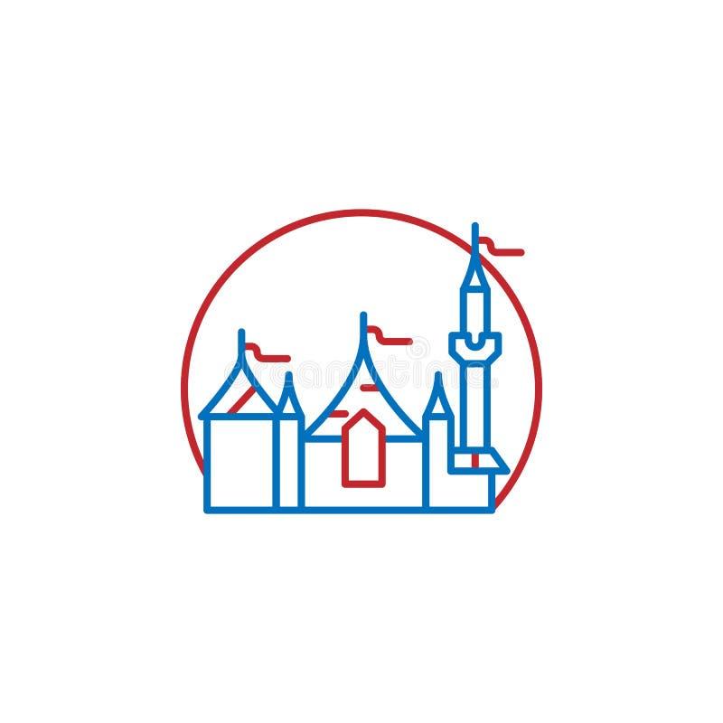 USA, castle icon. Element of USA culture icon. Thin line icon for website design and development, app development. Premium icon. On white background vector illustration