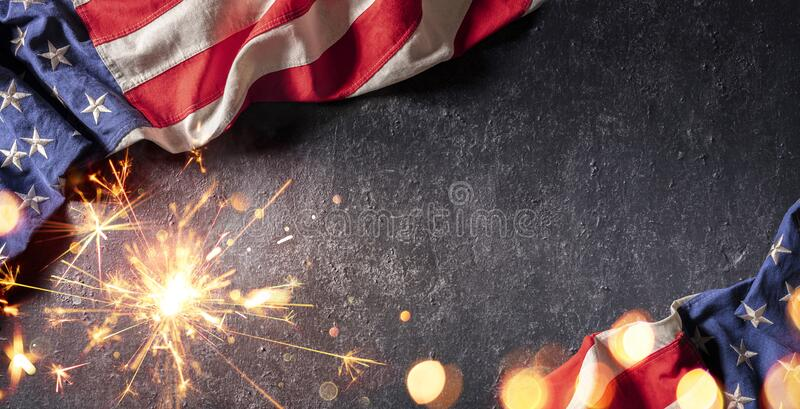 Usa Celebration With American Flag royalty free stock images