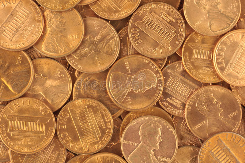 USA Cents. United States of America cents texture royalty free stock image