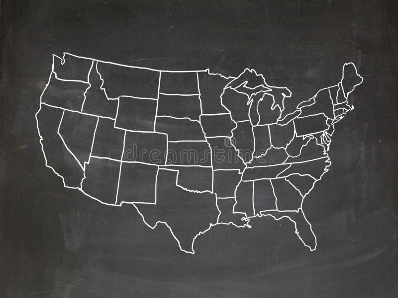 USA chalkboard zdjęcia royalty free