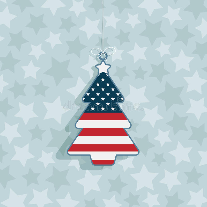 Usa christmas decoration royalty free illustration