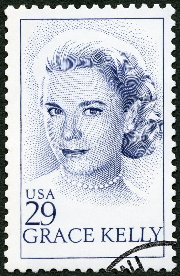 USA - 1993: shows Grace Patricia Kelly 1929-1982, actress. USA - CIRCA 1993: A stamp printed in USA shows Grace Patricia Kelly 1929-1982, actress, circa 1993 stock photo