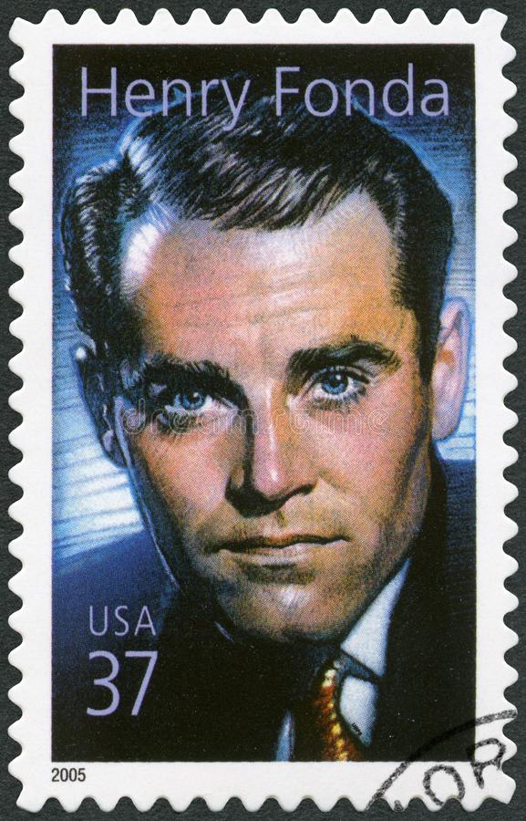USA - 2005: shows Henry Jaynes Fonda 1905-1982, actor royalty free stock images