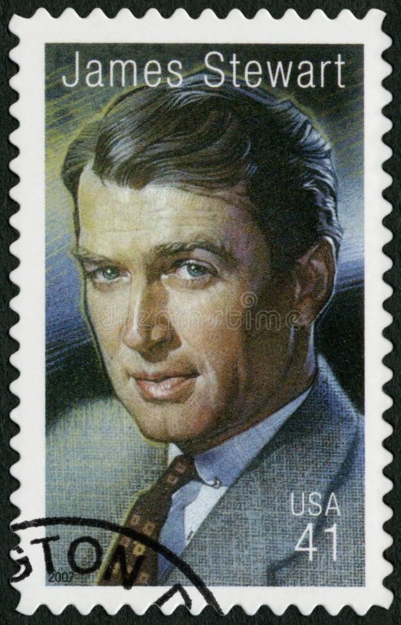 USA - 2007: shows James Jimmy Maitland Stewart royalty free stock photos