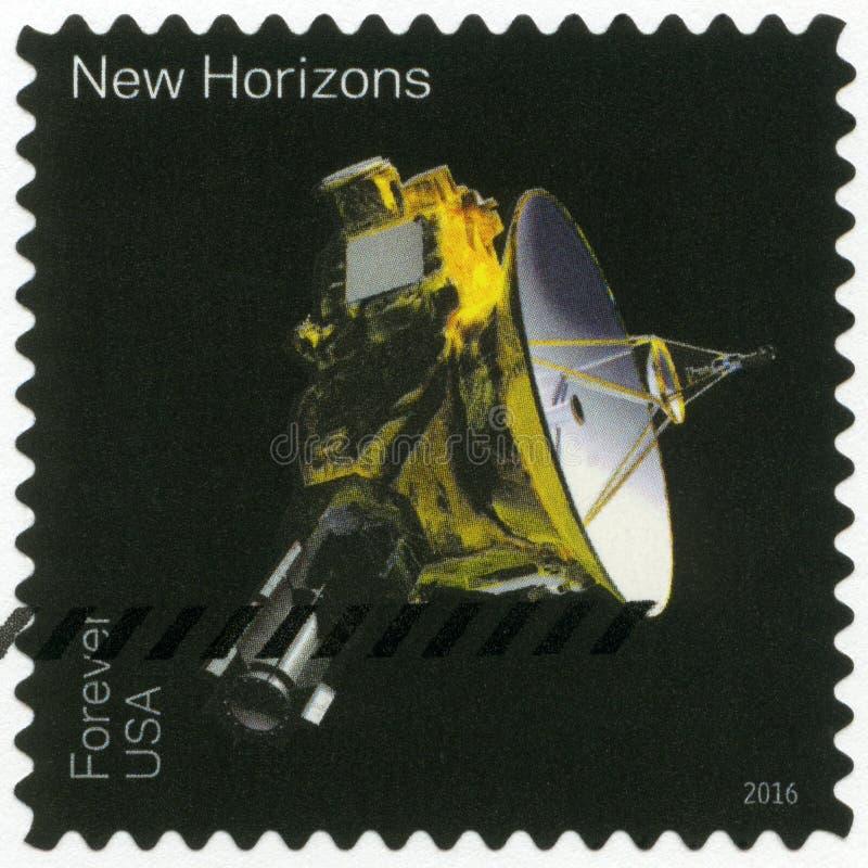 USA - CIRCA 2016: visar New Horizons, denundersökta serien royaltyfria bilder