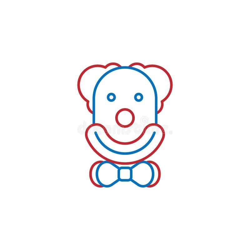 USA, clown icon. Element of USA culture icon. Thin line icon for website design and development, app development. Premium icon. On white background stock illustration