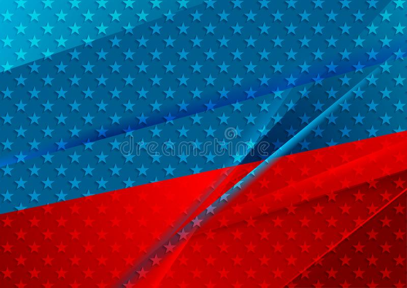 USA colors abstract bright vector background vector illustration