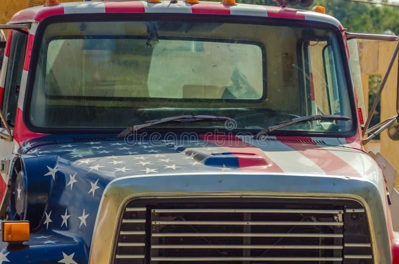 Usa construction vehicle stock image