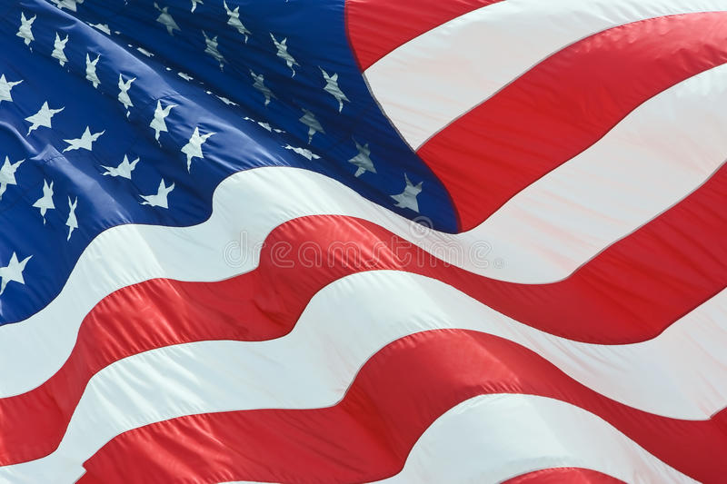 USA Country Flag. United states of america USA flag background full frame outdoor lighting