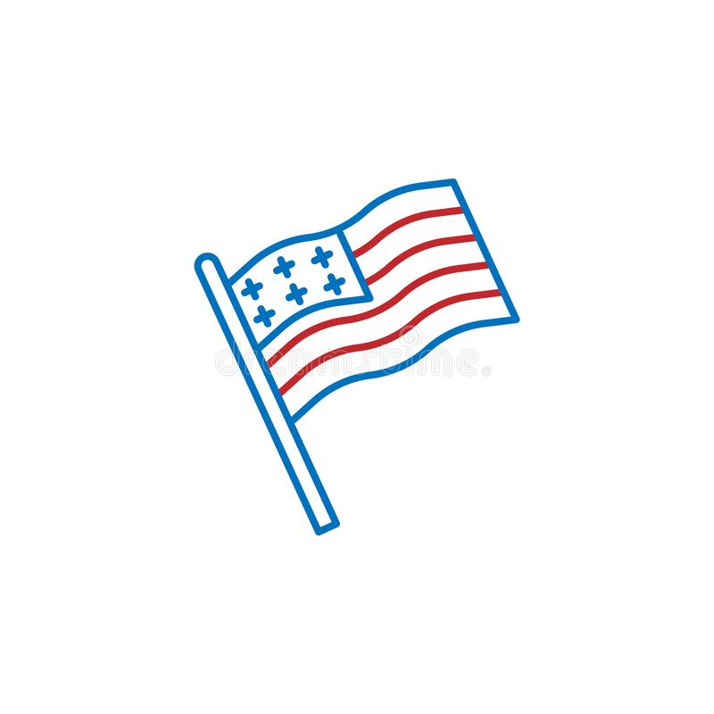 USA, country, flag icon. Element of USA culture icon. Thin line icon for website design and development, app development. Premium. Icon on white background vector illustration