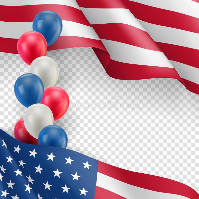 USA country patriotic background vector illustration