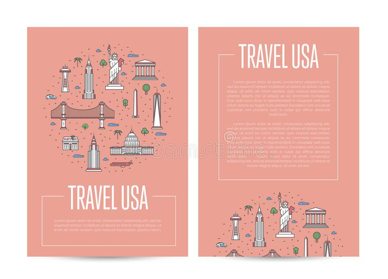 Country USA Travel Vacation Guide Editorial Stock Image