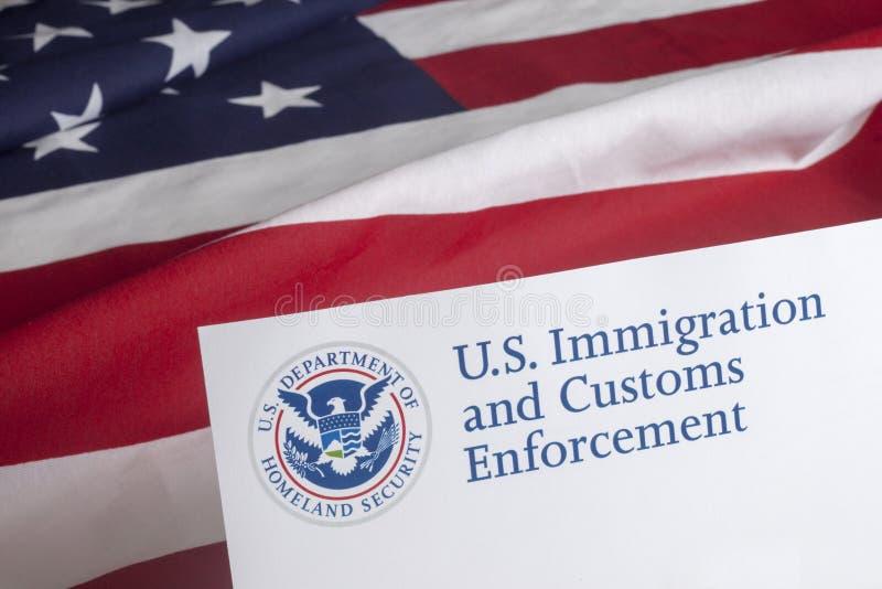 USA Customs i Rabatowy egzekwowanie zdjęcia royalty free