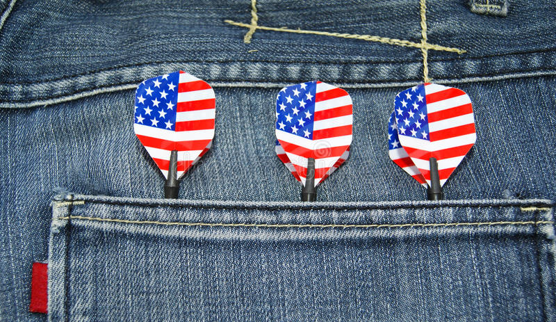 Download USA darts in jeans pocket stock image. Image of america - 23320957