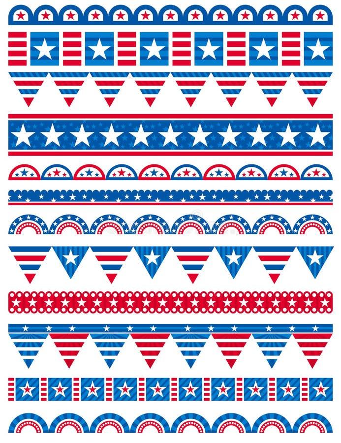 Download USA Decorative Borders, Ornamental Rules, Dividers Stock Vector - Image: 30562322
