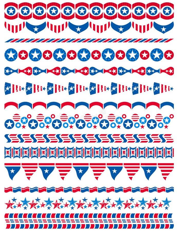 Download USA Decorative Borders, Ornamental Rules, Dividers Stock Vector - Image: 31005613