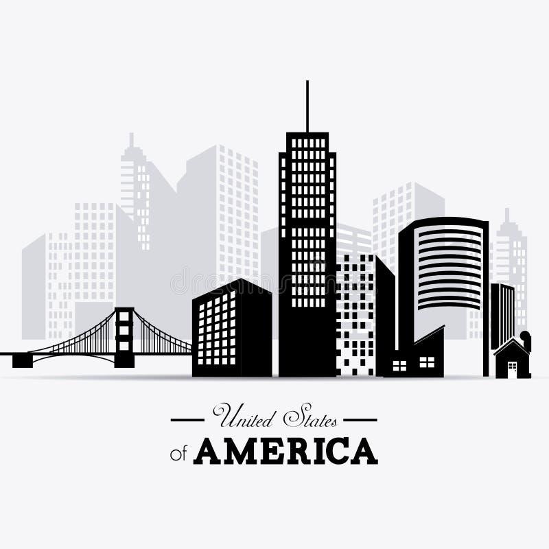 USA design royaltyfri illustrationer