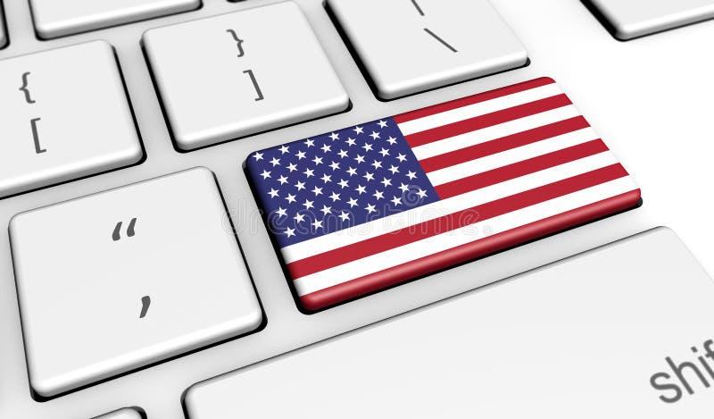 USA Digital det datornät arkivfoton