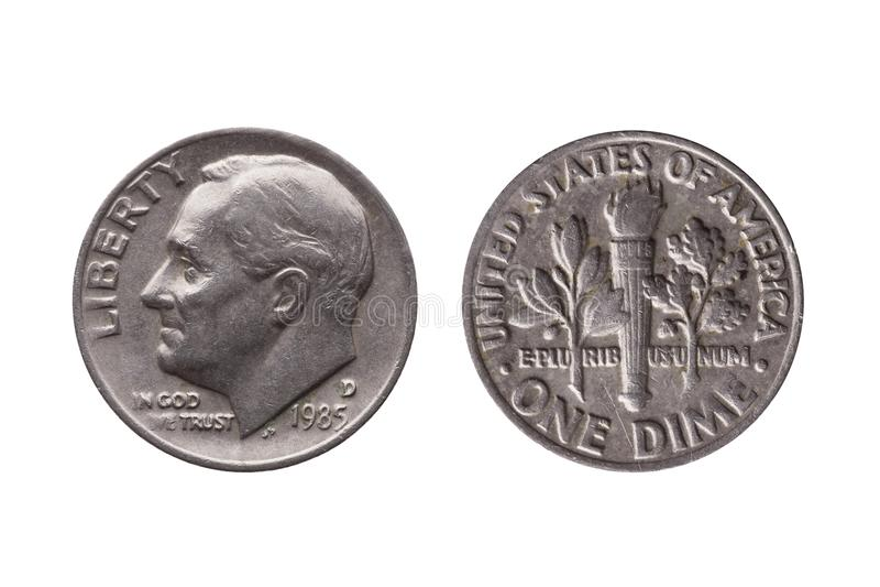 USA dime coin royalty free stock photo