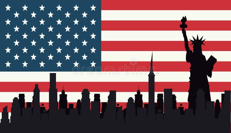 Usa dnia niepodległości projekt royalty ilustracja