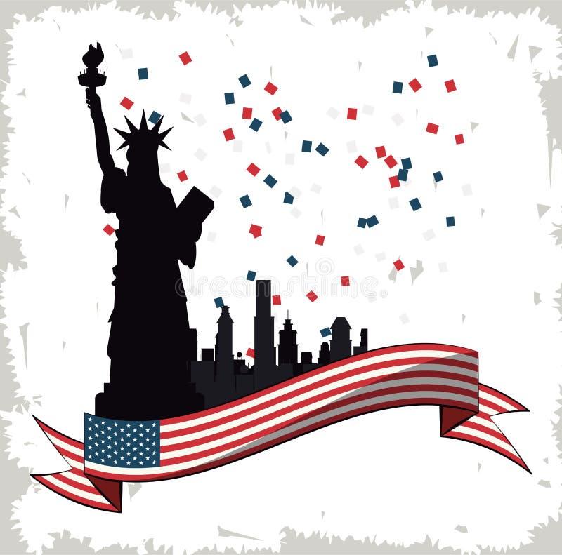 Usa dnia niepodległości projekt ilustracja wektor