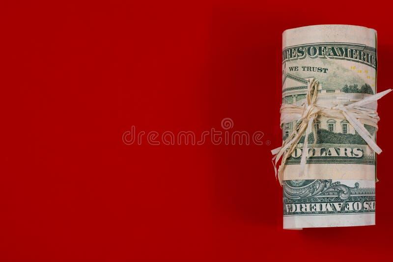 USA dolarów gotówki rolka obraz royalty free