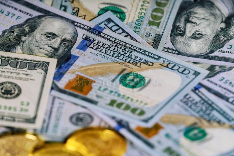 American Dollars Cash Money. One Hundred Dollar Banknotes, 100 dollar royalty free stock photography