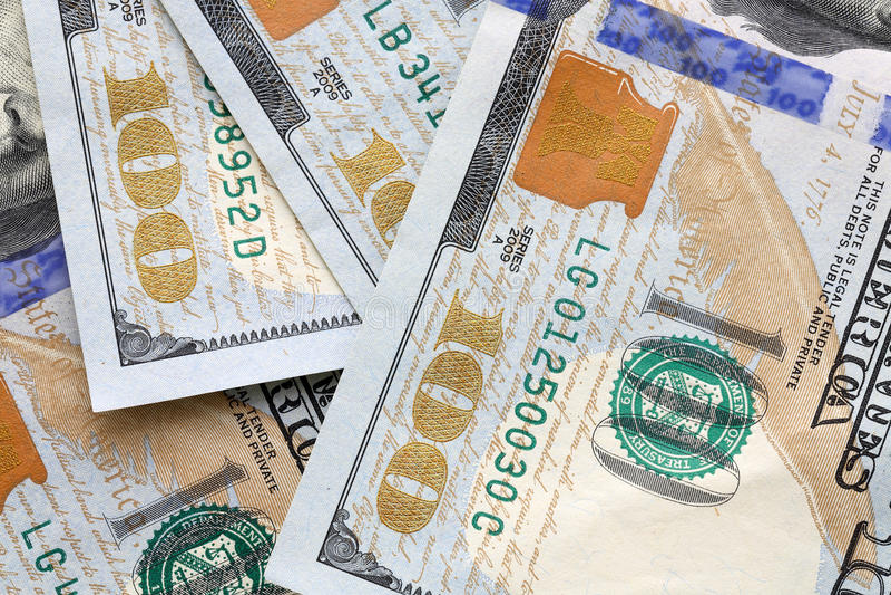 USA Dollars. Close Up Money Background with USA Dollars royalty free stock photo