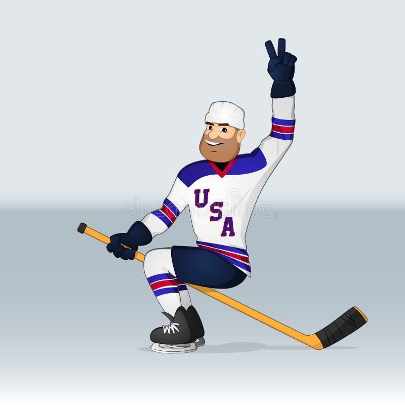 USA drużyny hokejowej lodowy gracz royalty ilustracja
