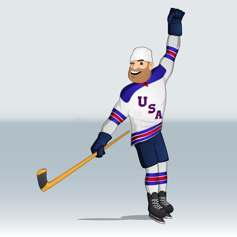 USA drużyny lodu gracz w hokeja ilustracja wektor