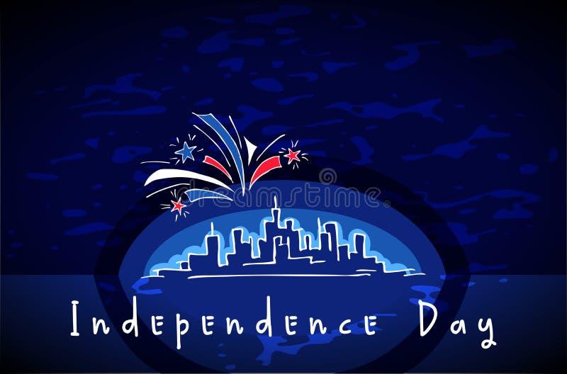 USA dzień niepodległości ilustracja wektor
