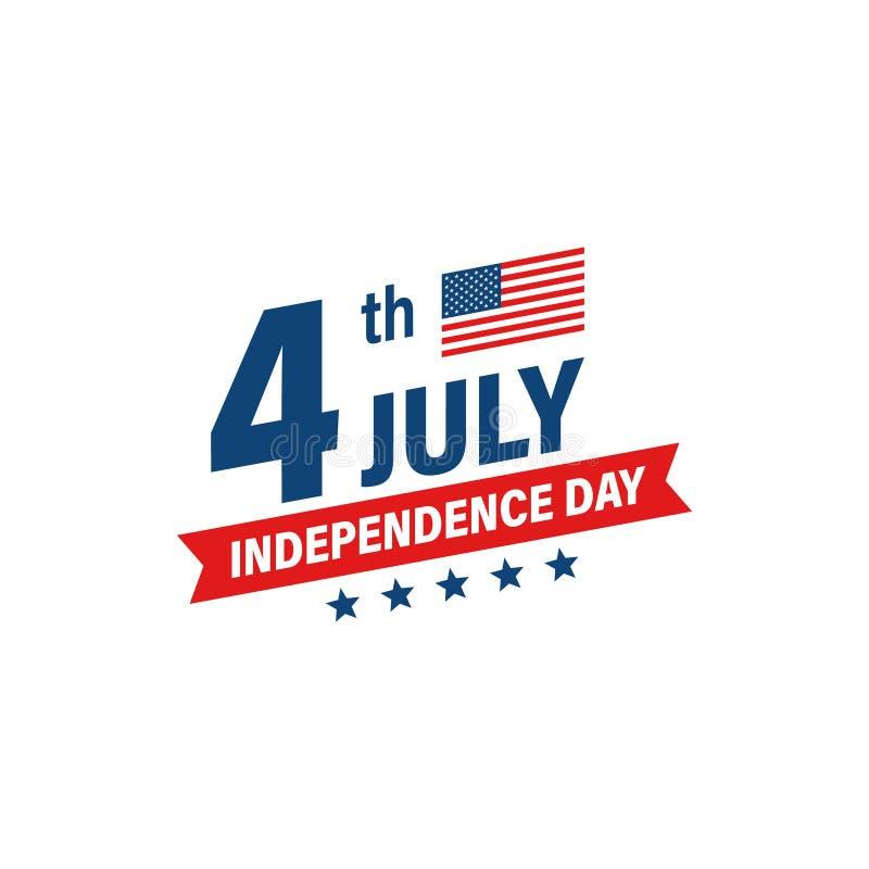 USA dzień niepodległości 4th Lipa wakacje pa?stwa bandery zjednoczonej ameryki Szcz??liwy dnia niepodleg?o?ci sztandar billboardu ilustracji