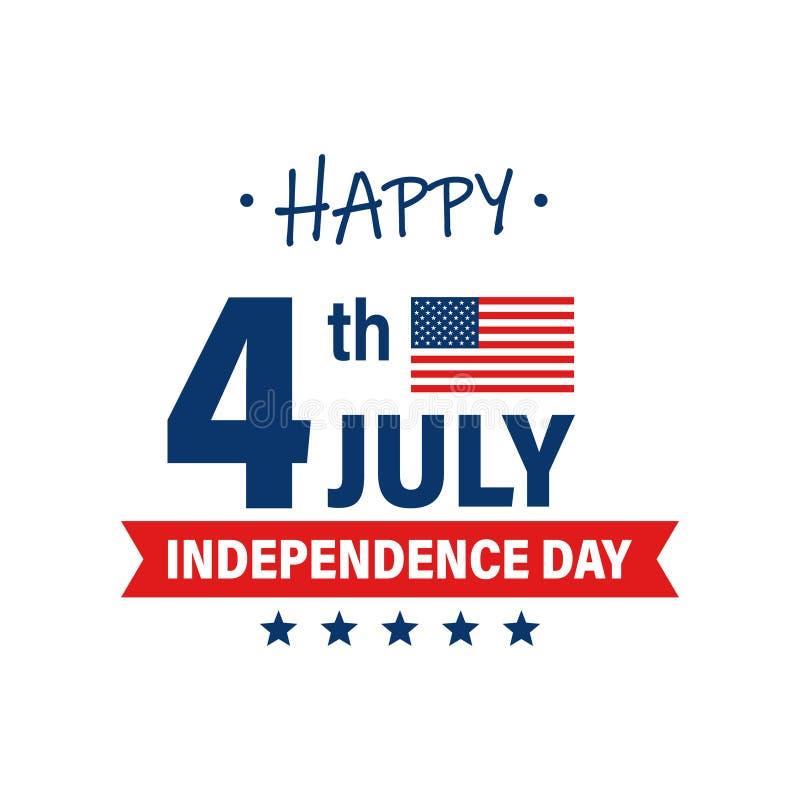 USA dzień niepodległości 4th Lipa wakacje pa?stwa bandery zjednoczonej ameryki Szcz??liwy dnia niepodleg?o?ci sztandar billboardu royalty ilustracja
