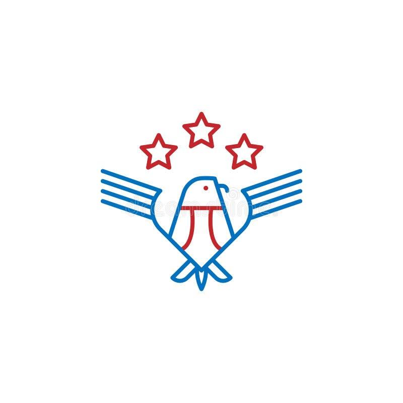 USA, emblem icon. Element of USA culture icon. Thin line icon for website design and development, app development. Premium icon. On white background stock illustration
