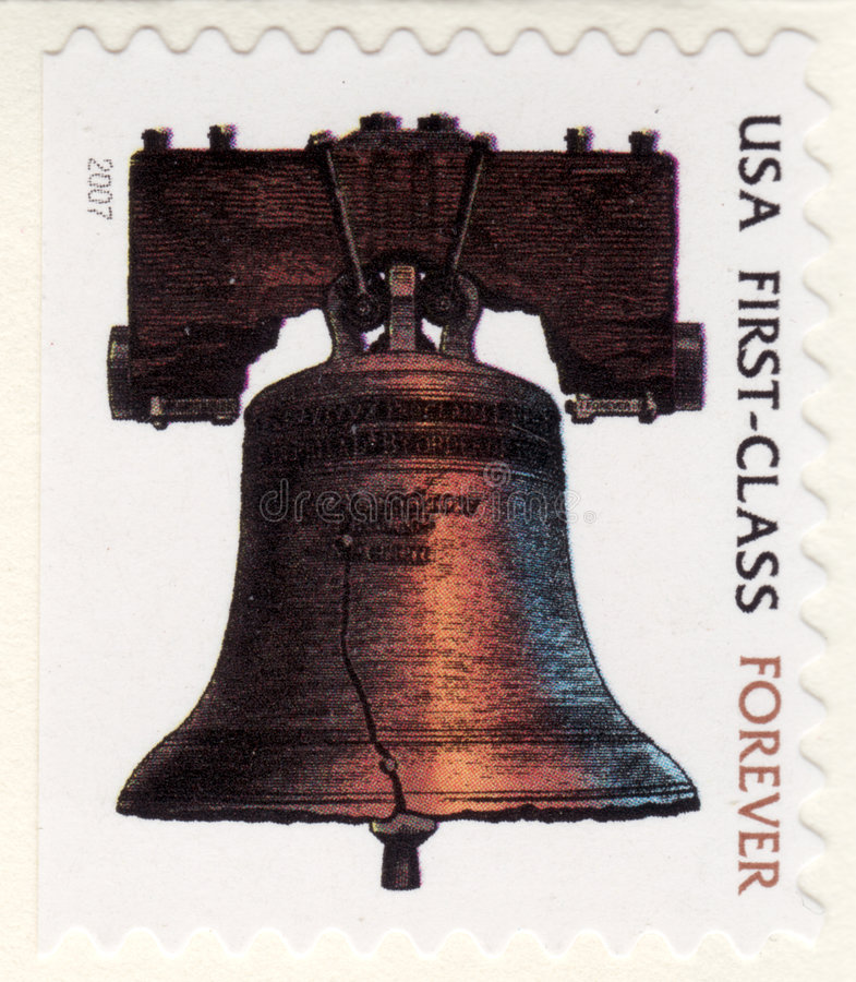 USA-erste Klasse stempeln für immer lizenzfreies stockbild