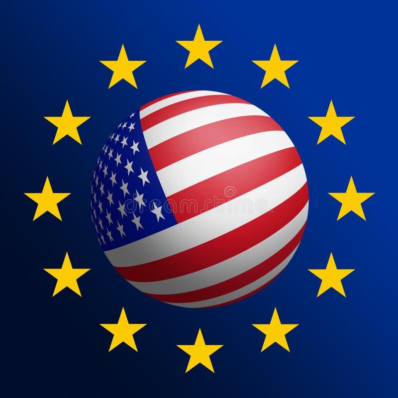 Download USA - EU stock illustration. Illustration of emblem, government - 23186916